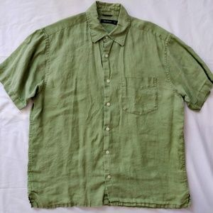 ed5177982 ... Men s Nautica Lime Green Linen Shirt ...